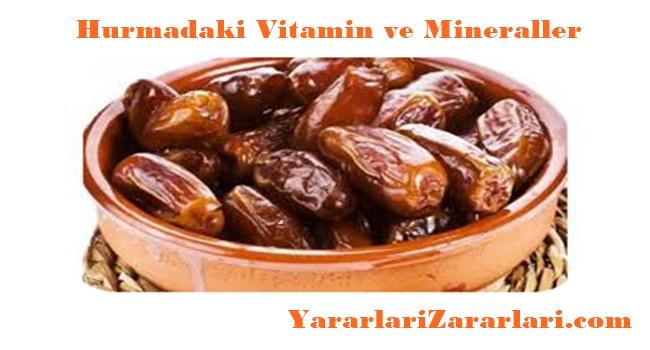 Hurmanın İçerdiği Vitamin ve Mineraller