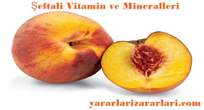 Şeftalinin Vitamin ve Mineral Değerleri